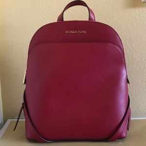 NEW Michael Kors Emmy Large Dome Leather Backpack